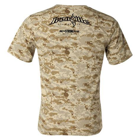 digital camo desert ironville desert digital camo weightlifting t shirt