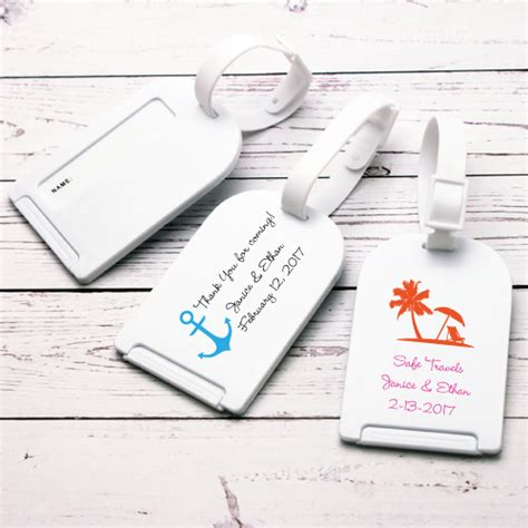 printable luggage tags wedding beach theme personalized luggage tag favor beach theme
