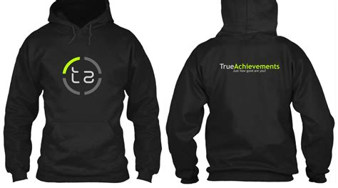 hoodie with design on back limited edition trueachievements merchandise