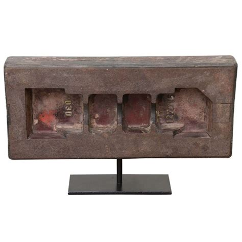 wooden industrial mold on contemporary stand for sale at