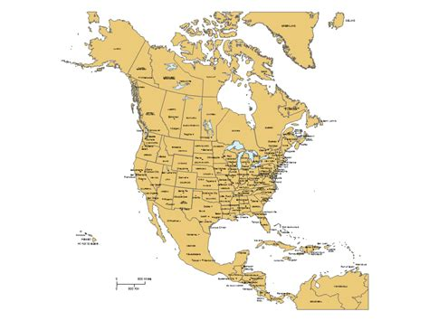 america map showing states and provinces america powerpoint map w countries provinces