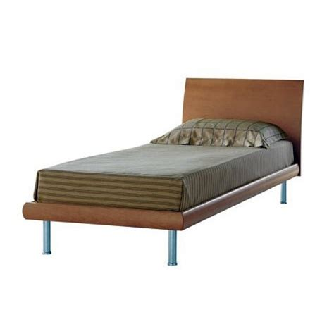 Wood Bed Frame Legs Single Bed Frame Made Of Wood With Metal Legs Arianna Berloni Luxury Furniture Mr