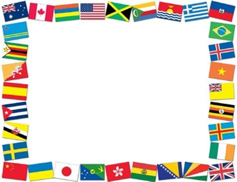 flags of the world page border borders and frames flags of the world borders by