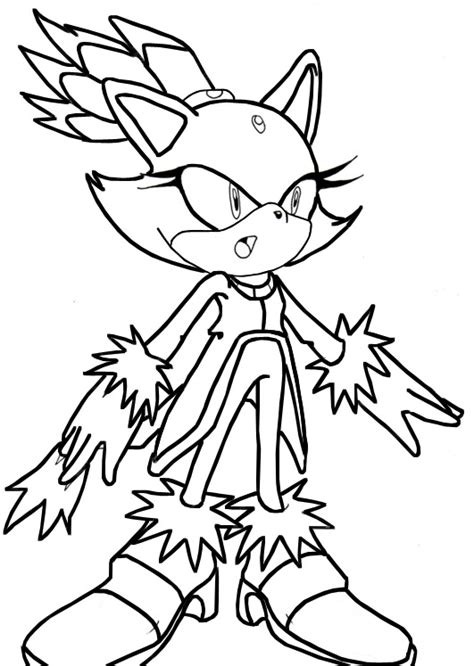 Blaze The Cat Coloring Pages blaze coloring pages coloring pages