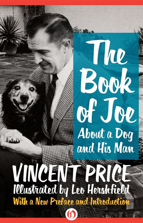 Book Review By Price by Vincent Price Celebrates Pup With The Book Of Joe Book