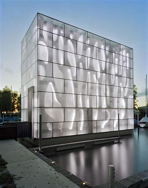 light architecture led house illuminates lake constance