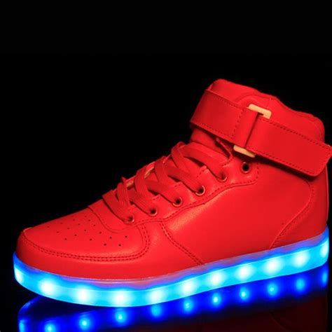 wholesale cheap lights up led luminous casual shoes high