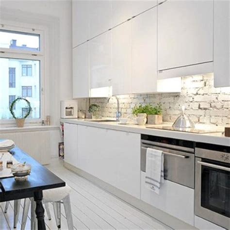 grey wallpaper kitchen 25 modern kitchens and interior brick wall design ideas