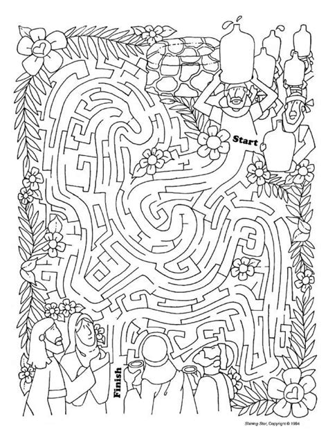 coloring page water into wine wedding at cana worksheet google search wedding at