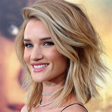 google pictures of hairstyles with long with short sides rosie huntington whiteley long bob pesquisa google