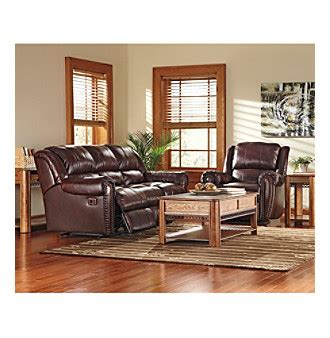 lane living room furniture lane summerlin brown leather reclining sofa glider