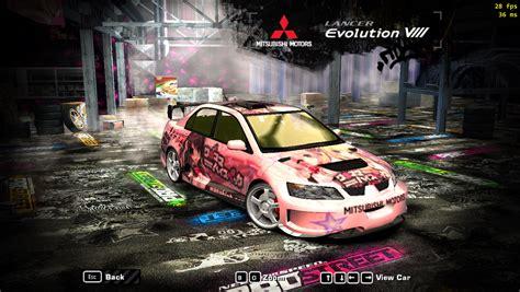 speed  wanted mitsubishi lancer evolution