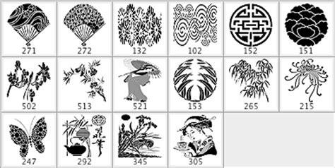 japanese pattern photoshop brush japanese brush pack 2 photoshop brushes