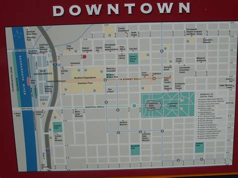 downtown map downtown sacramento city map sacramento california mappery