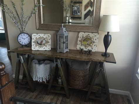 pin by shanty 2 chic sawhorse table my first build shanty 2 chic