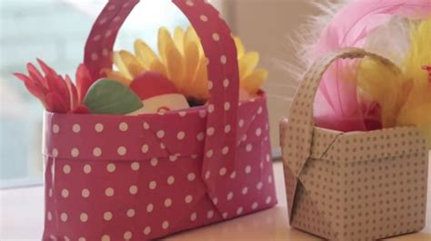 How To Make A Origami Easter Basket - how to make origami easter baskets curious