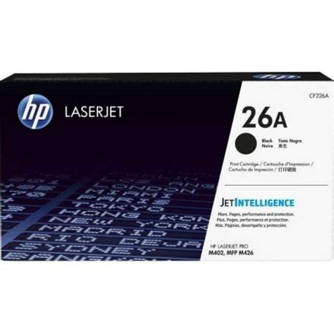 Toner Hp Laserjet Cf226a Black Original hp 26a black laserjet toner cartridge cf226a