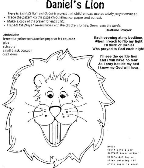 printable coloring pages daniel and the lions den crafts search and the black on pinterest