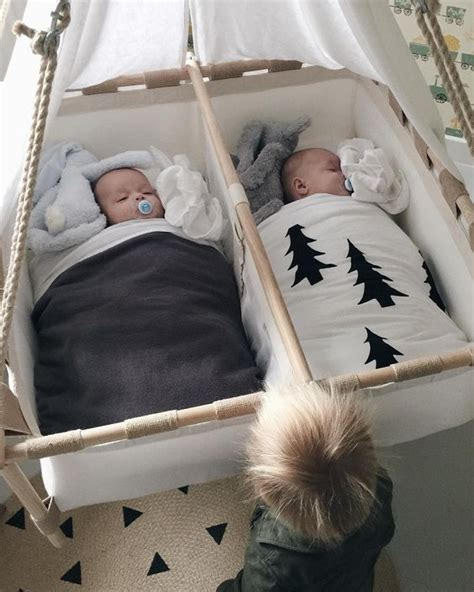 double baby swing double the fun 15 gorgeous twins nurseries
