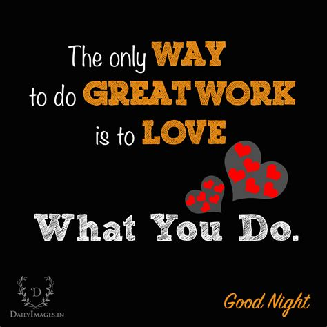 great work   love    good night daily images