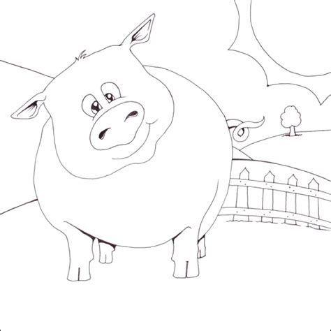 fat pig coloring page fat pig colouring