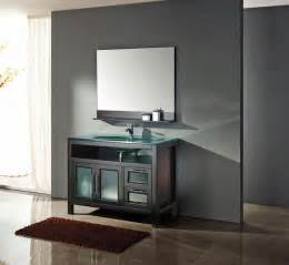 Modern bathroom furnished with contemporary modern black vanity by