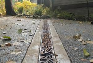 driveway cross or drain with metal grate city of los