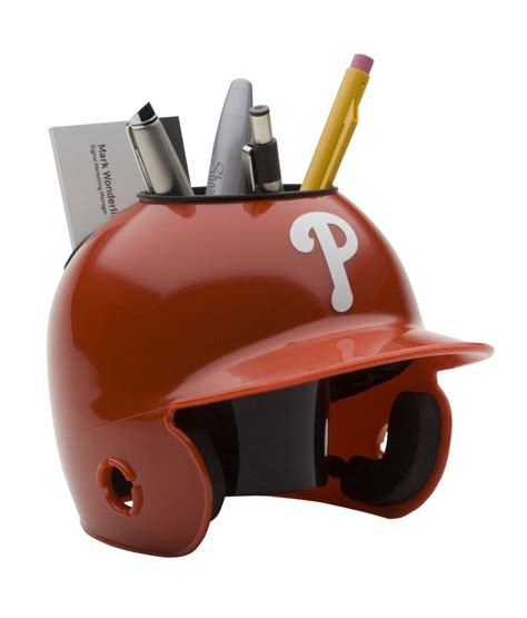 Rawlings Baseball Chair by Philadelphia Phillies Mini Batting Helmet Desk Caddy