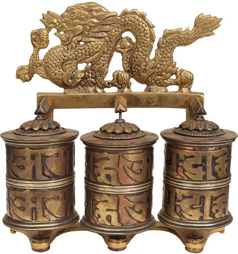 tibetan buddhist prayer tibetan buddhist prayer wheel with dragons