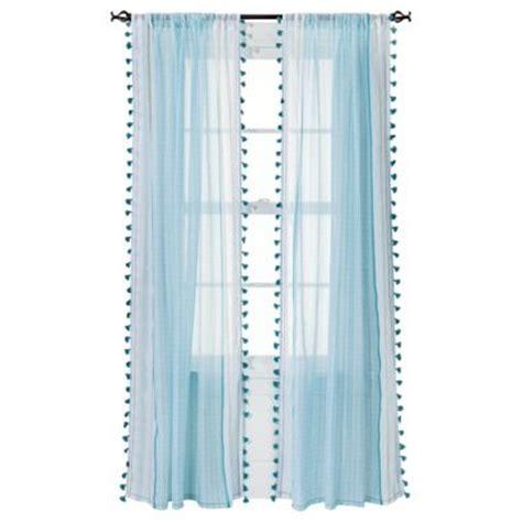 xhilaration curtains xhilaration 174 tasseled print window sheer 50x84