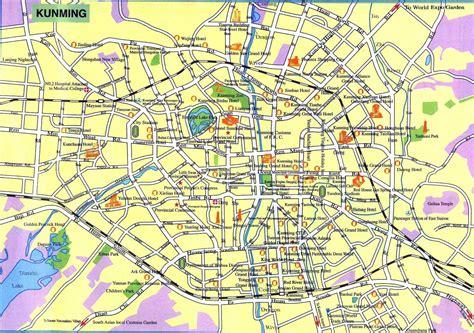 kunming maps map  kunming china kunming tourist maps
