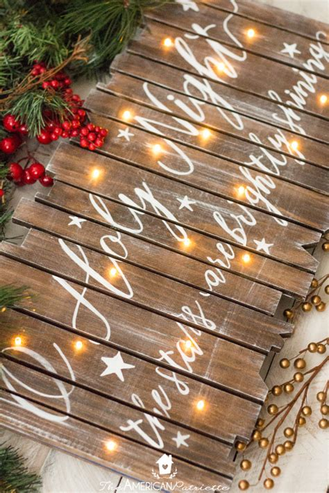 light up presents christmas decorations diy rustic light up christmas sign the american patriette