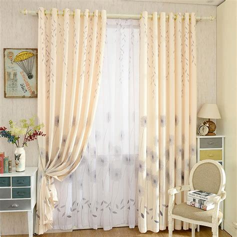 modern country curtains modern printed leaf and flower patterns light blue country