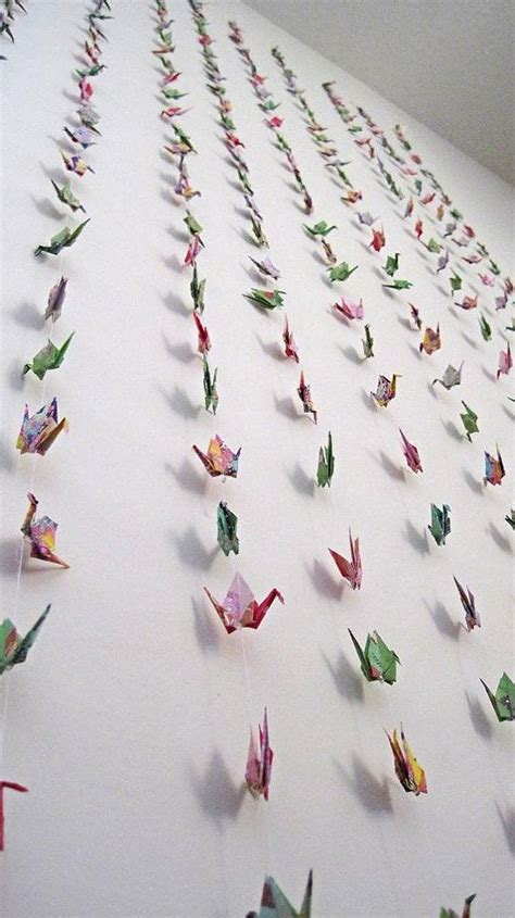 Origami Paper Decorations - wedding backdrop decoration origami paper crane garland