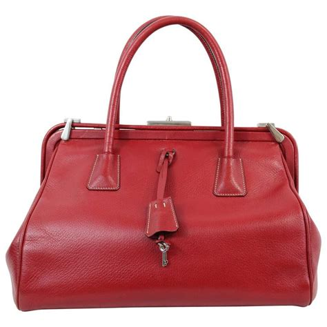 Fashion Doctor Bag Y 1 prada madras doctor bag in leather at 1stdibs