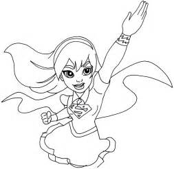 supergirl coloring pages free printable high coloring pages supergirl
