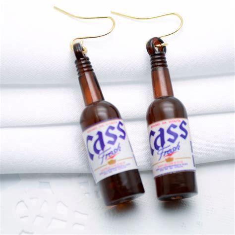 fashion kawaii charm chic korean earrings soju bottle