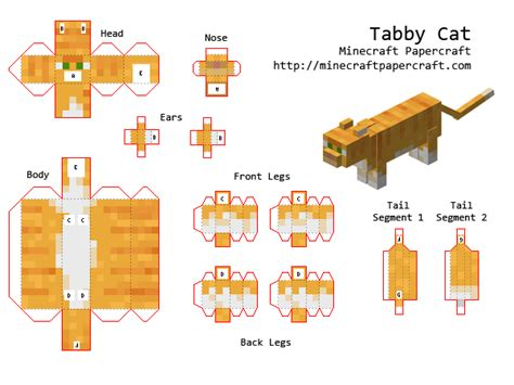 Black Cat Papercraft - papercraft tabby cat minecraft tabby cats