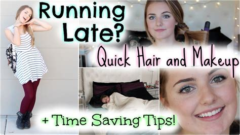 quick and easy hairstyles when running late running late for school quick hair makeup time saving