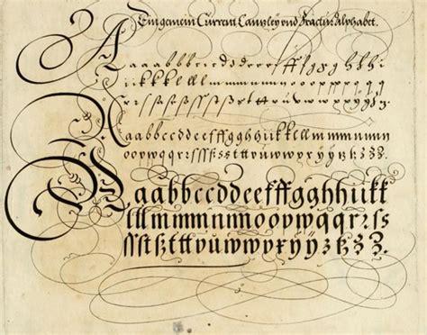 art of writing ornate 17th century calligraphic