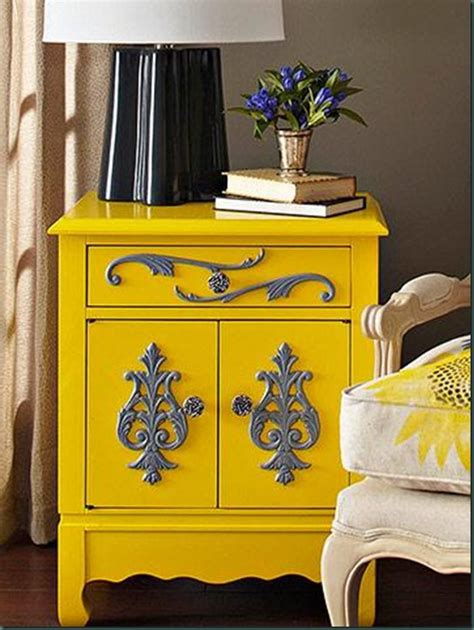 expressive yellow painted furniture ideas