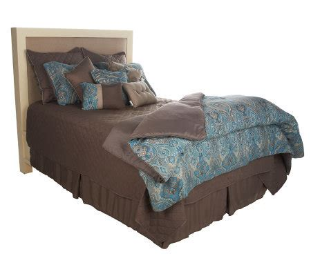 pillows bedding for the home qvc com homereflections anika paisley 12 piece bedding ensemble