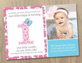 1st birthday invitation card maker baby 1st birthday photo invitation flowers