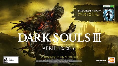 Xbox One Souls 3 free souls with souls 3 pre order is xbox exclusive xbox one xbox 360 news at