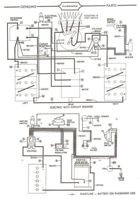 cushman wiring diagram cushman eagle wiring diagram