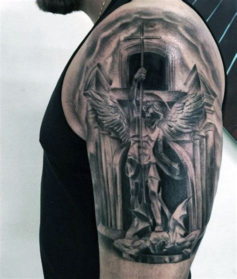 st michael sleeve tattoo designs 75 st michael designs for archangel and