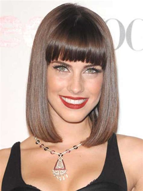 brunette hairstyles with bangs 2014 20 best brunette bob haircuts bob hairstyles 2017