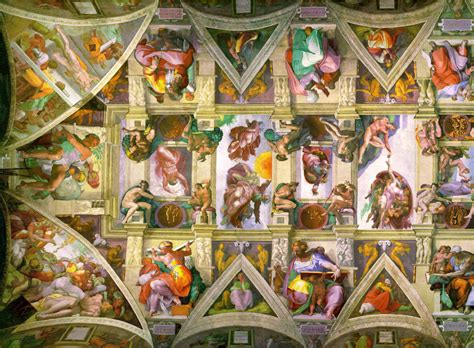 Michelangelo Sistine Ceiling by Comics In Visual Arts The Sistine Chapel Ceiling By