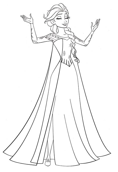 elsa pictures to color free printable coloring pages elsa 2015