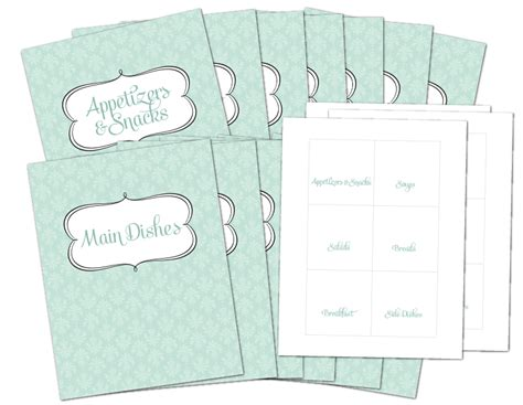 free recipe templates for binders 8 best images of free printable recipe divider templates